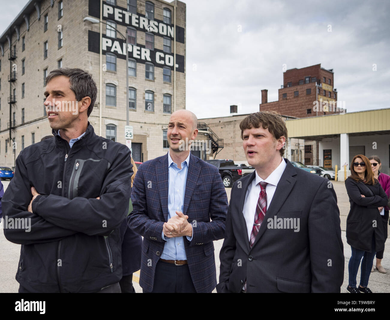 Quad Cities Events May 2020.Davenport Iowa Usa 20th May 2019 Beto O Rourke Left