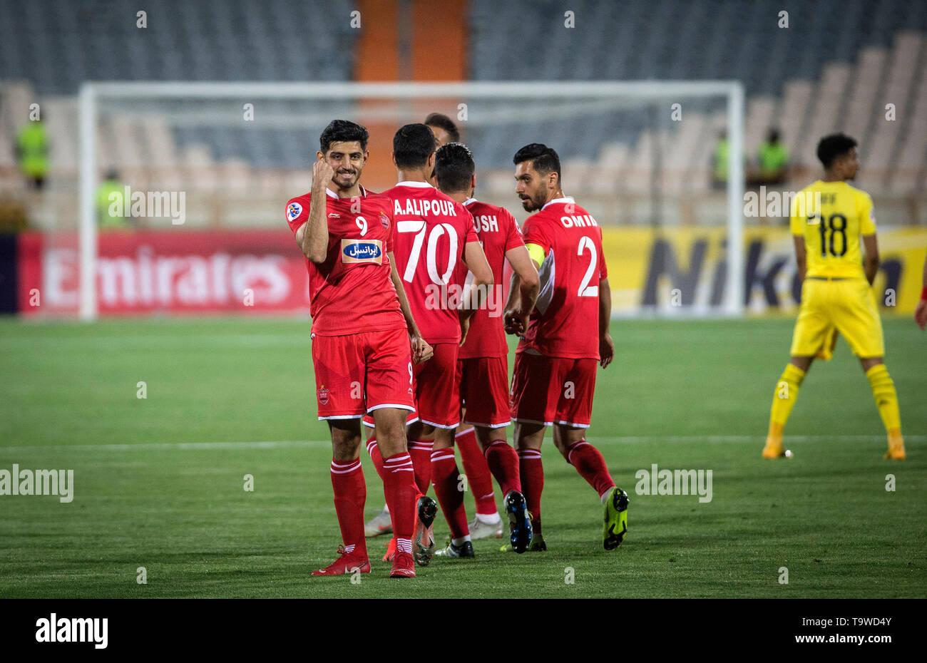 Tehran Iran 20th May 2019 Mahdi Torabi 1st L Of Persepolis Celebrates His Goal During The