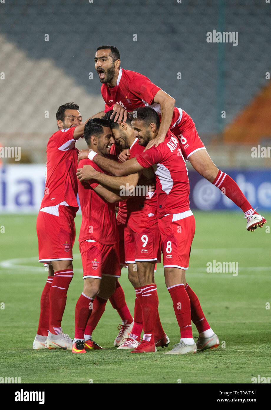 Tehran Iran 20th May 2019 Players Of Persepolis Celebrate Their Goal During The Afc Champions League