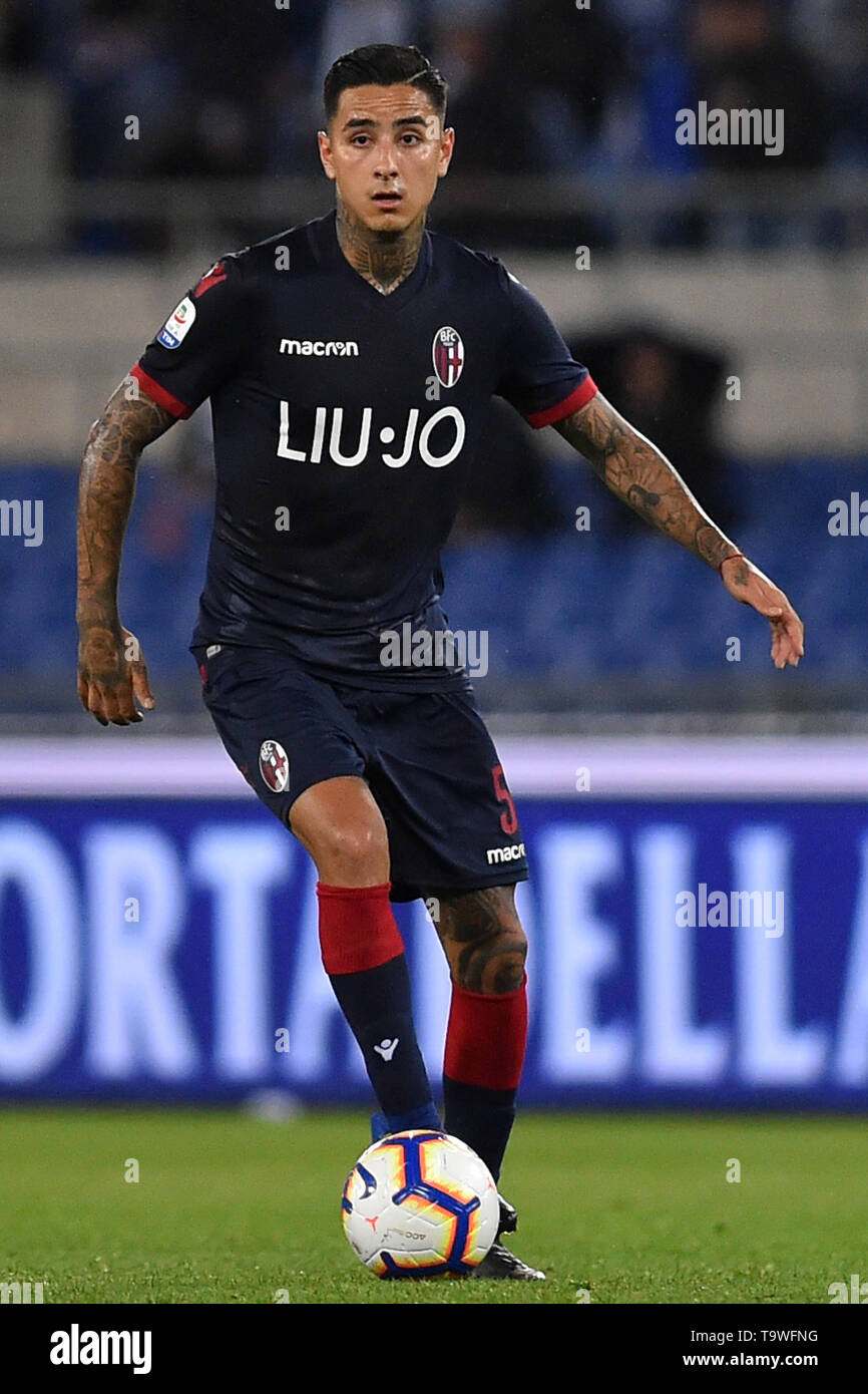 Rome, Italy. 21st May, 2019. Serie A Lazio vs Bologna Stadio Olimpico.Roma 20-05-2019 Pictured Erick Pulgar Photo Photographer01 Credit: Independent Photo Agency/Alamy Live News - Stock Image