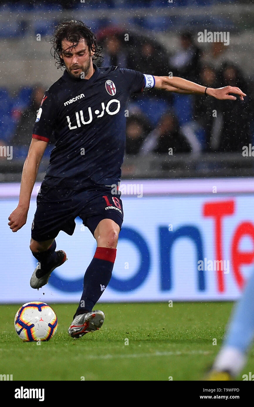 Rome, Italy. 21st May, 2019. Serie A Lazio vs Bologna Stadio Olimpico.Roma 20-05-2019 In the photo Andrea Poli Photo Photographer01 Credit: Independent Photo Agency/Alamy Live News - Stock Image