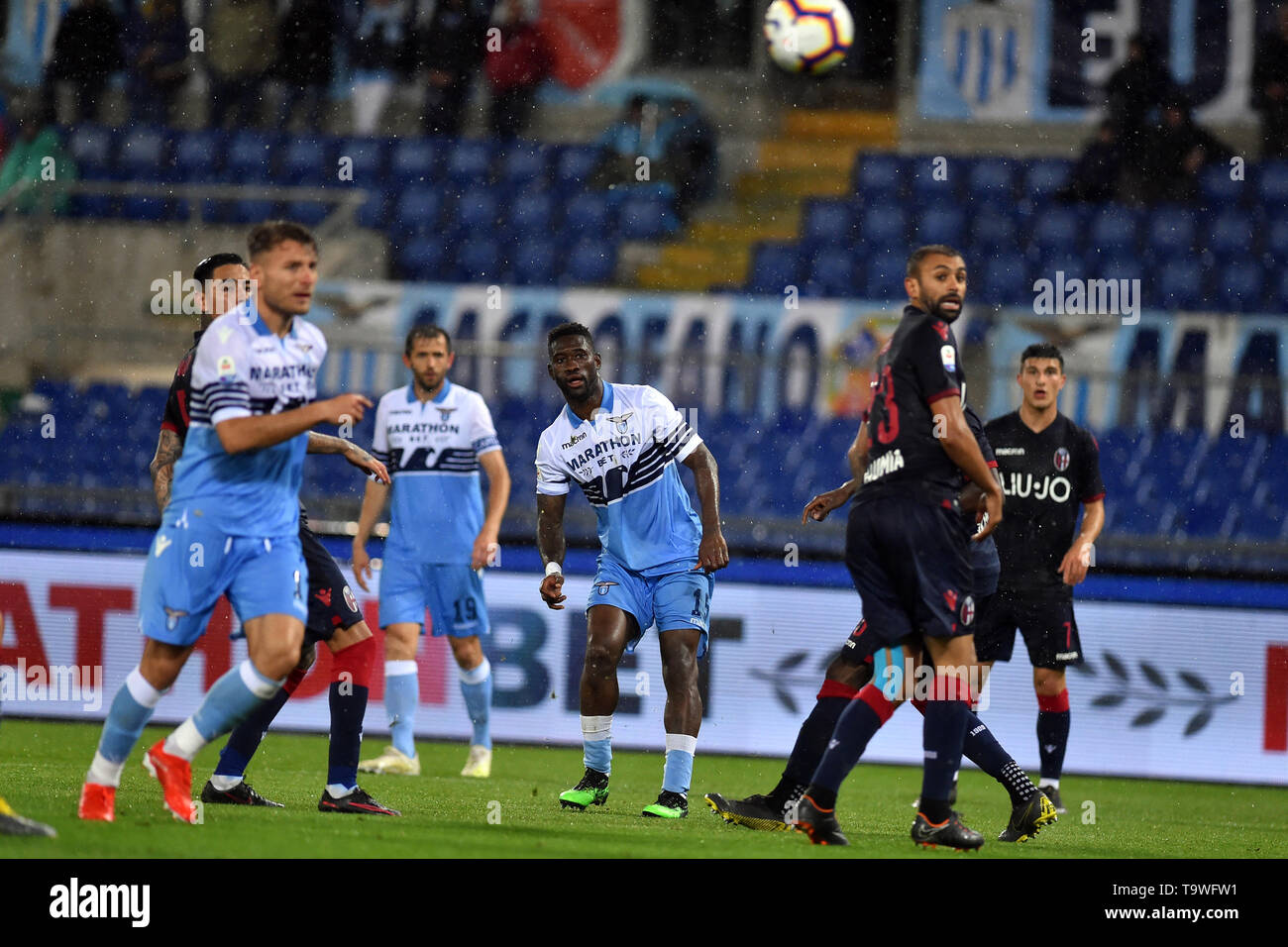 Rome, Italy. 21st May, 2019. Serie A Lazio vs Bologna Stadio Olimpico.Rome 20-05-2019 In the picture Bartolomeu's goal Jacinto Quissanga Bastos Photo Photographer01 Credit: Independent Photo Agency/Alamy Live News - Stock Image