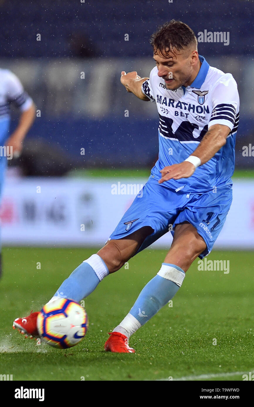 Rome, Italy. 21st May, 2019. Serie A Lazio vs Bologna Stadio Olimpico.Roma 20-05-2019 In the photo Ciro Immobile Photo Photographer01 Credit: Independent Photo Agency/Alamy Live News - Stock Image