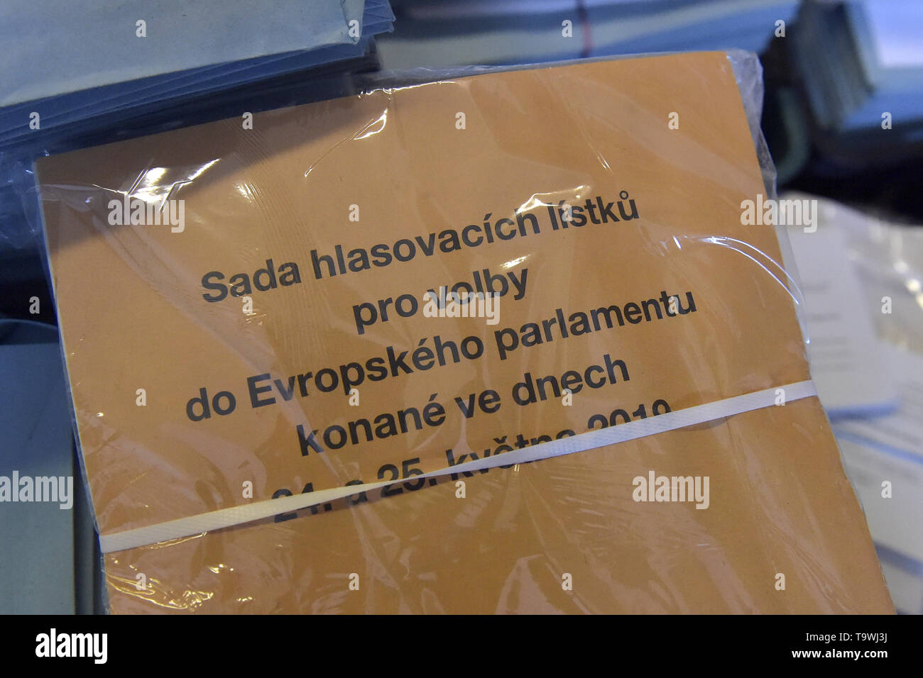 Ostrava, Czech Republic. 21st May, 2019. Ongoing preparations prior to the 2019 European Parliament election in the Czech Republic are seen on May 21, 2019, in Ostrava, Czech Republic. Credit: Jaroslav Ozana/CTK Photo/Alamy Live News Stock Photo