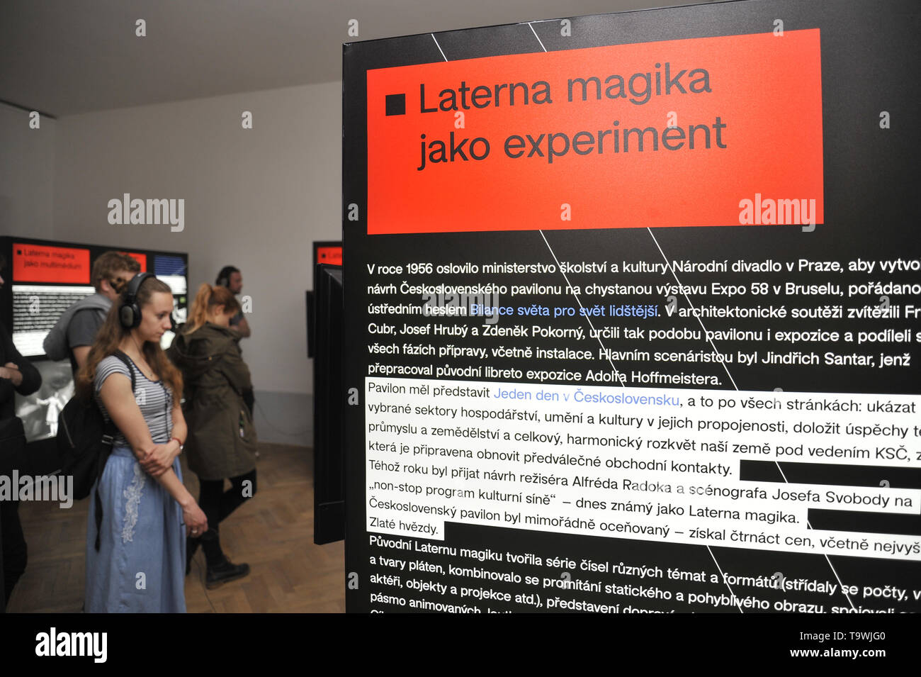 "Brno, Czech Republic. 21st May, 2019. The ""Laterna magika: (De)construction and (Re)invention"" exhibition was launched in Brno, Czech Republic, on May 21, 2019. Credit: Igor Zehl/CTK Photo/Alamy Live News Stock Photo"
