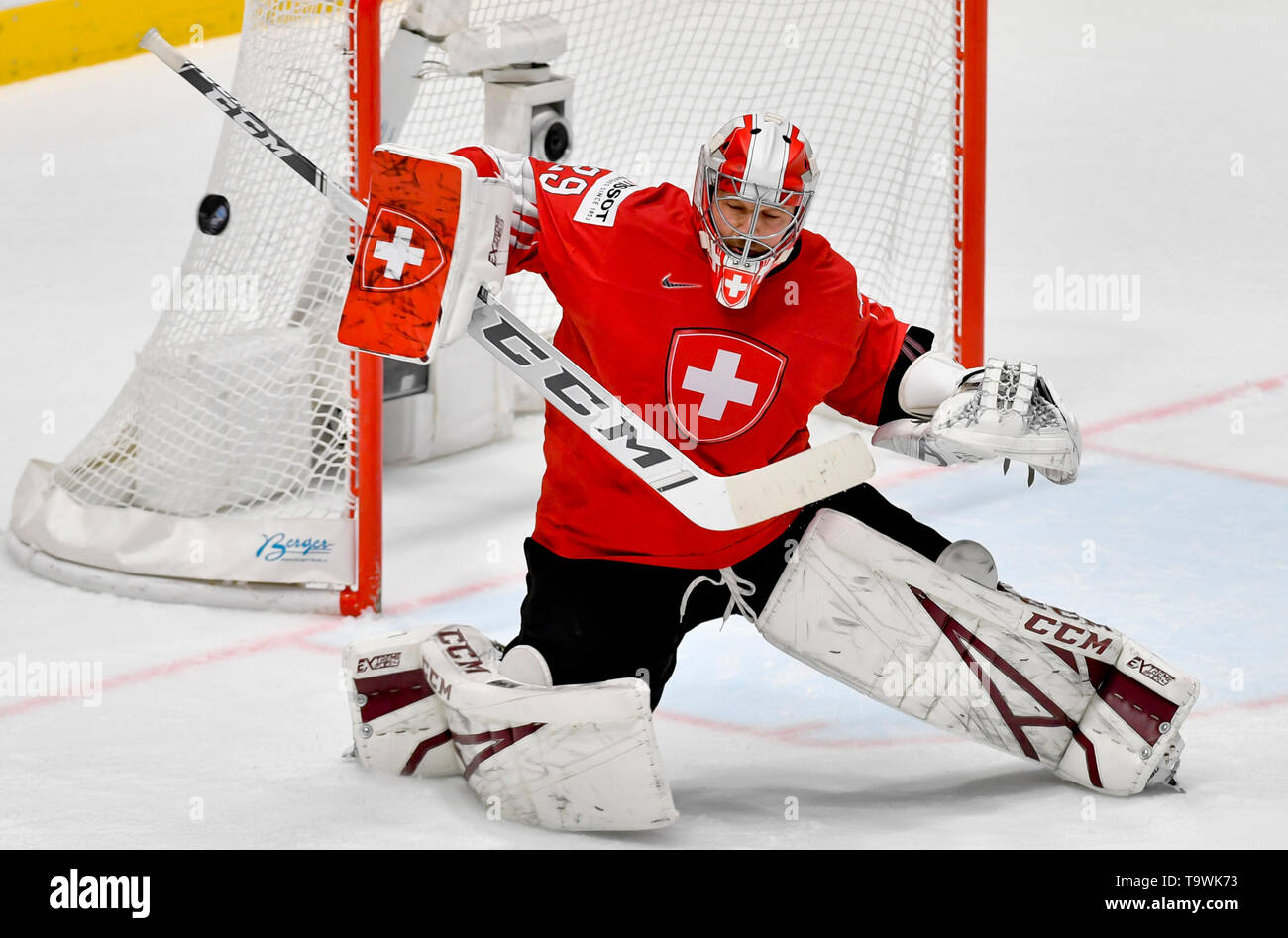 Bratislava, Slovakia. 21st May, 2019. Robert Mayer (SUI) in action during the match between Czech Republic and Switzerland within the 2019 IIHF World Championship in Bratislava, Slovakia, on May 21, 2019. Credit: Vit Simanek/CTK Photo/Alamy Live News Stock Photo