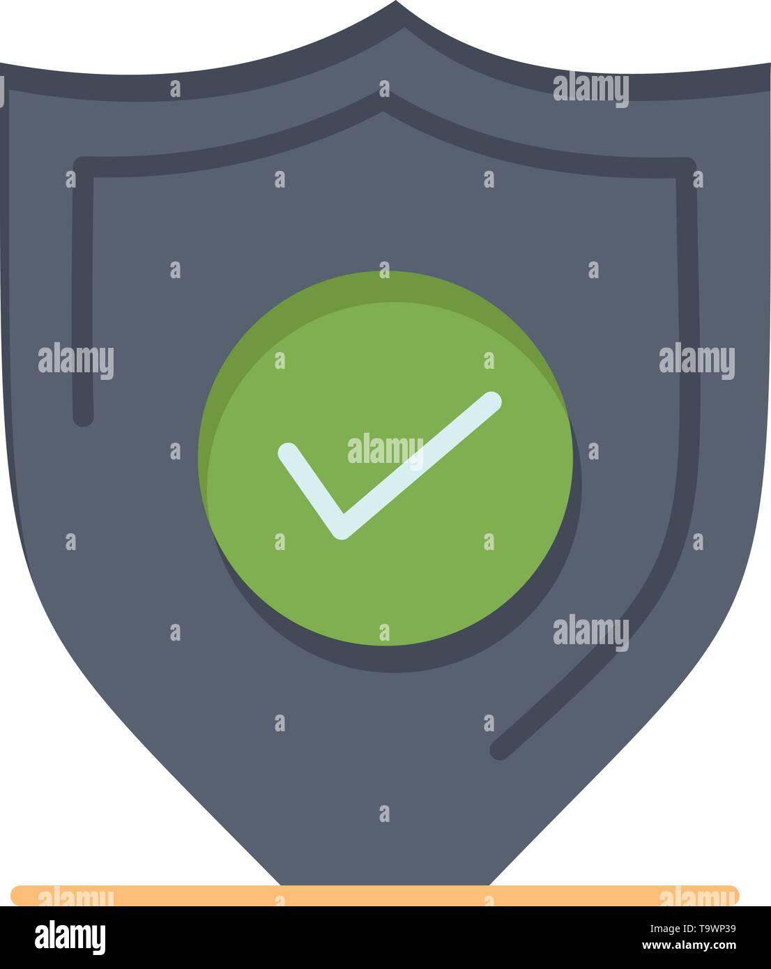 Confirm, Protection, Security, Secure  Flat Color Icon. Vector icon banner Template - Stock Image
