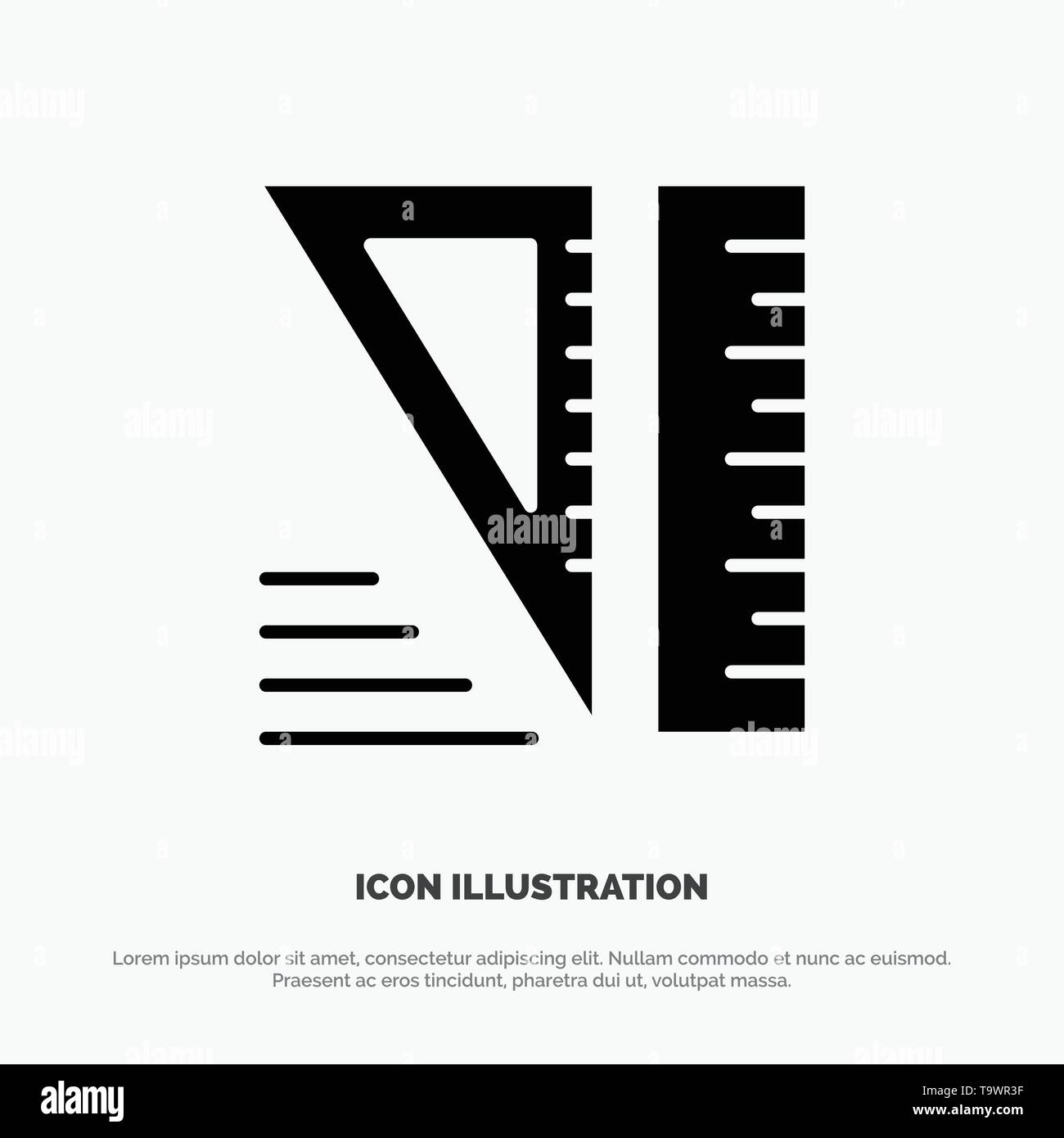 Education, Geometrical, Tools solid Glyph Icon vector - Stock Image