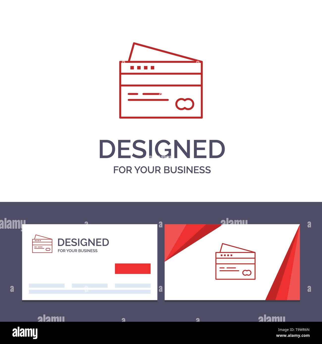 Creative Business Card and Logo template Credit card, Banking, Card, Cards, Credit, Finance, Money, Shopping Vector Illustration - Stock Image