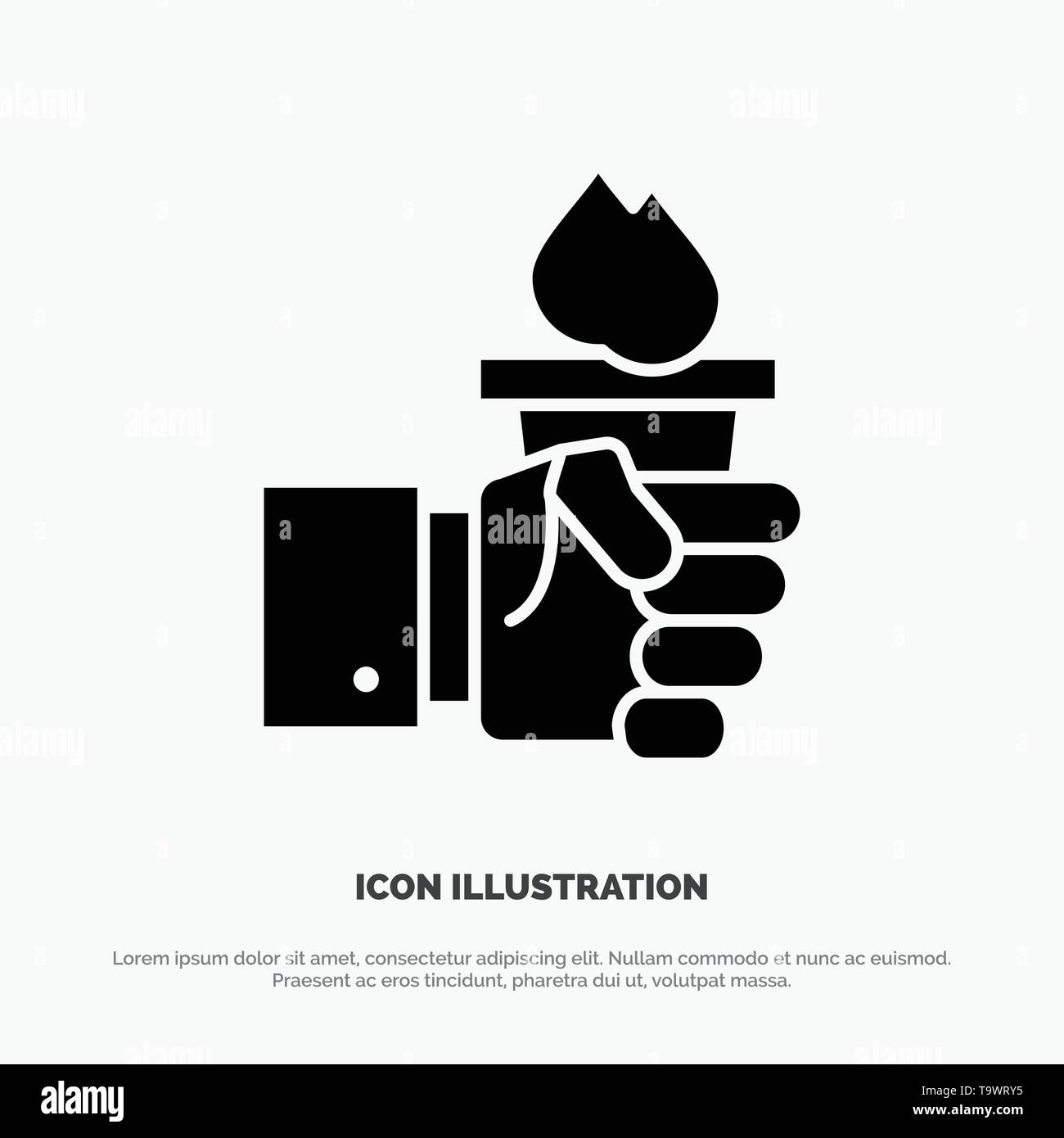 Business, Hand, Leader, Leadership, Olympic solid Glyph Icon vector - Stock Vector