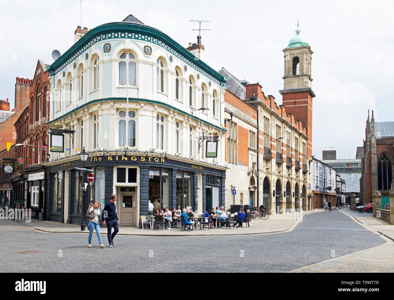 The Kingston pub in Trinity Square, Kingston upon Hull, East Yorkshire, England UK - Stock Image