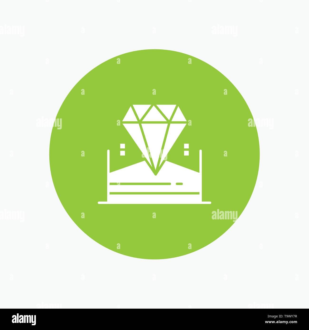 Brilliant, Diamond, Jewel, Hotel white glyph icon - Stock Image