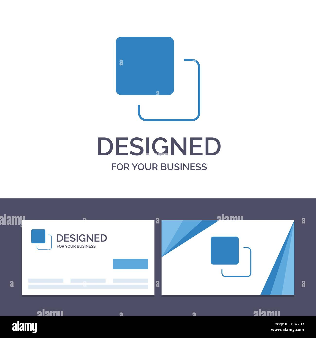 Creative Business Card and Logo template Four, Media, Quadruple, Stack Vector Illustration - Stock Image