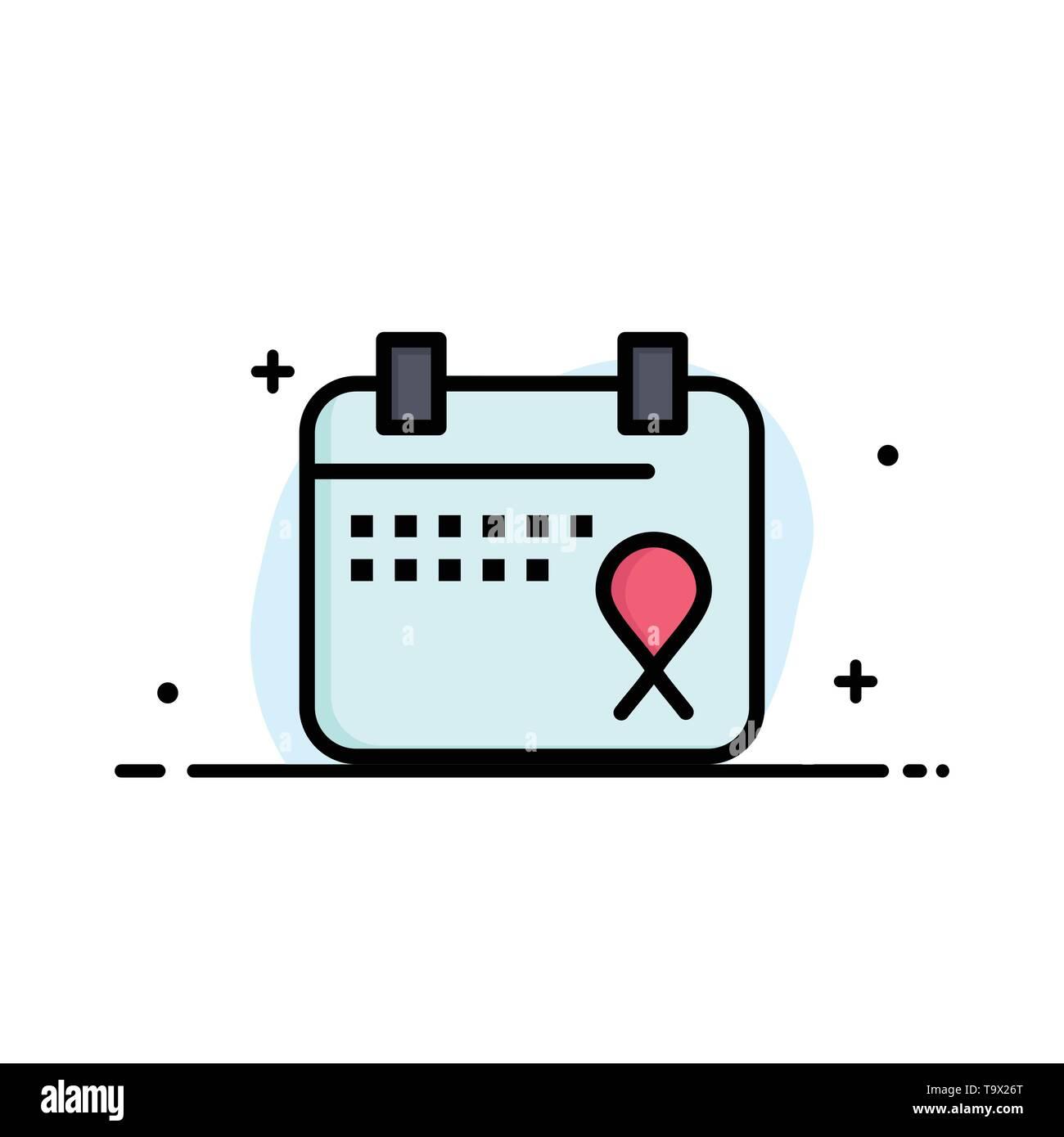 Calendar, Love, Operation, Date Business Logo Template. Flat Color - Stock Image