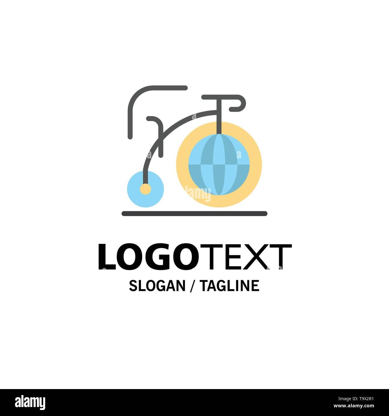 Big, Bike, Dream, Inspiration Business Logo Template. Flat Color - Stock Image