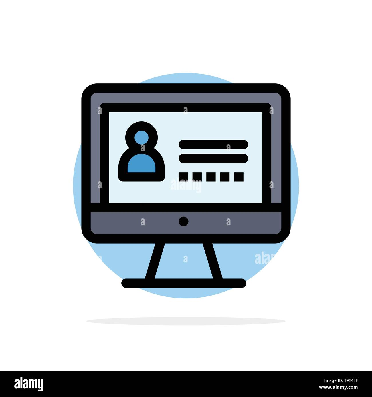 Computer, Internet, Security Abstract Circle Background Flat color Icon - Stock Image