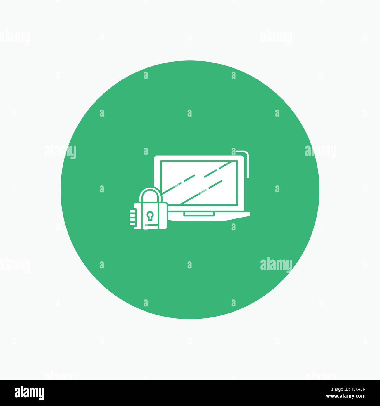 Computer, Padlock, Security, Lock, Login - Stock Image