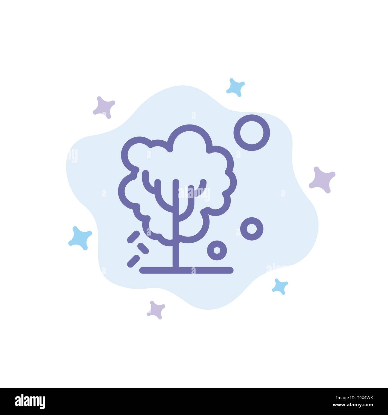 Dry, Global, Soil, Tree, Warming Blue Icon on Abstract Cloud Background - Stock Image