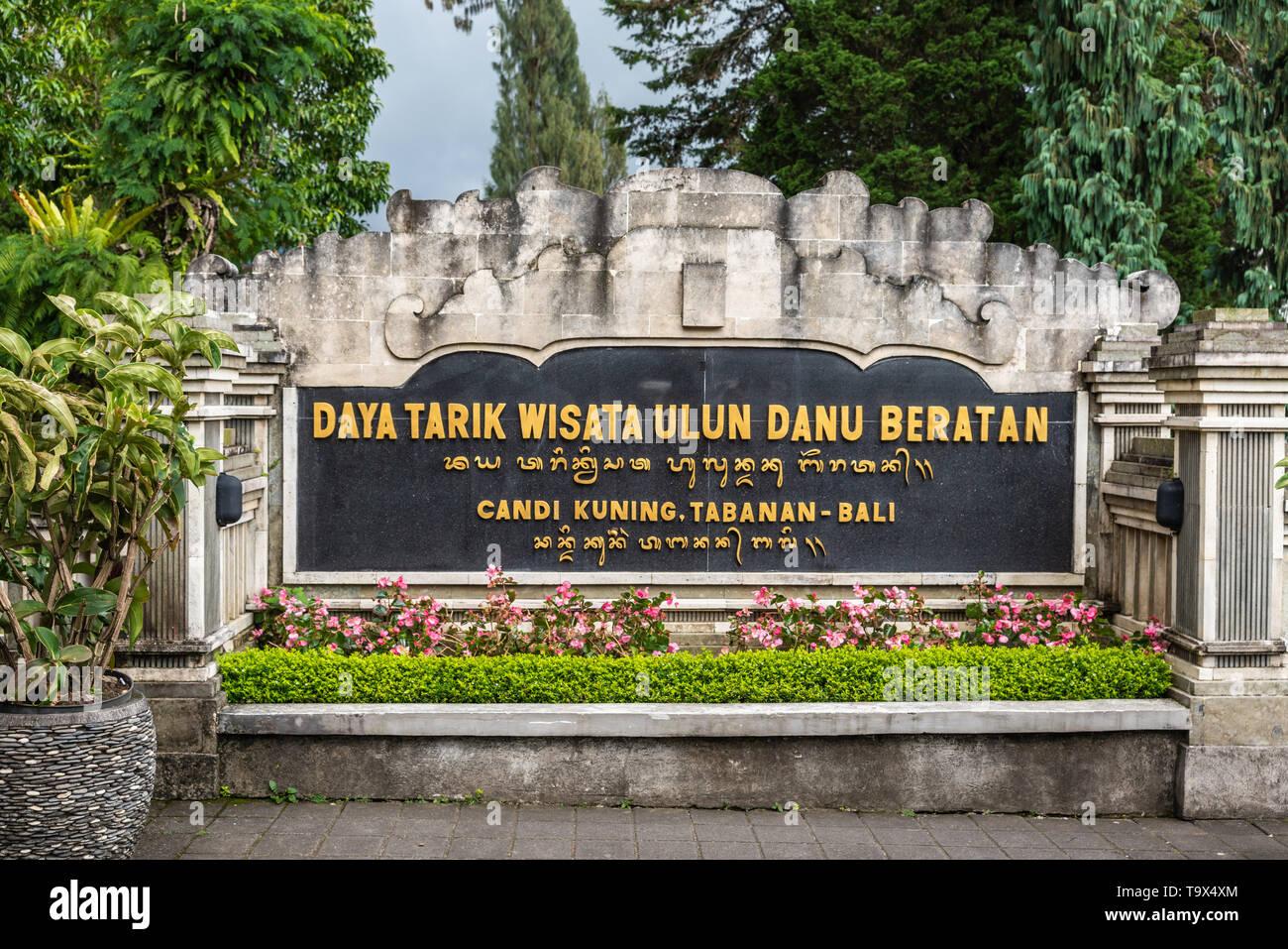 Bali Indonesia February 25 2019 Ulun Danu Beratan