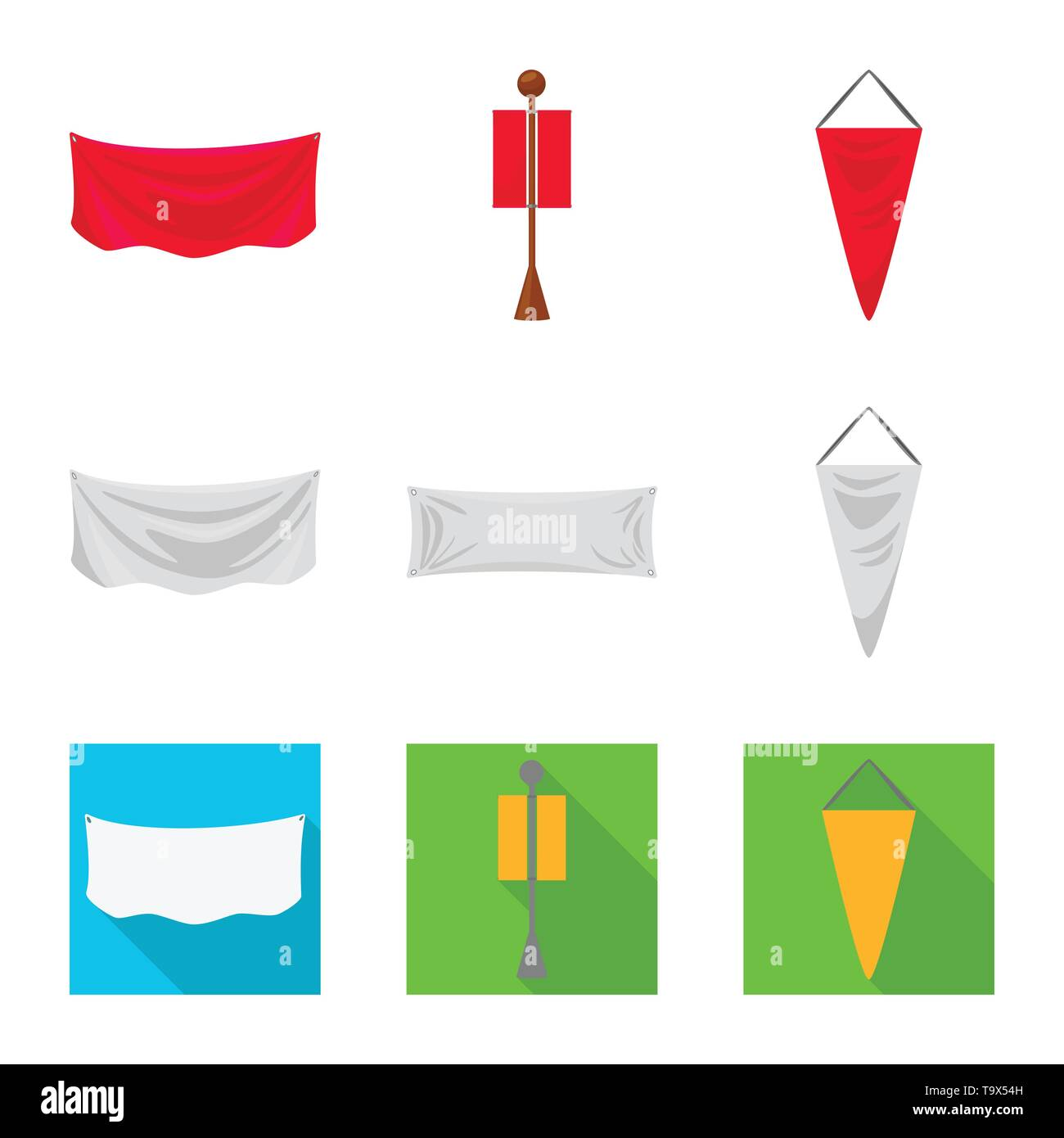 Isolated object of texture and presentation icon. Set of texture and media  stock vector illustration. - Stock Image