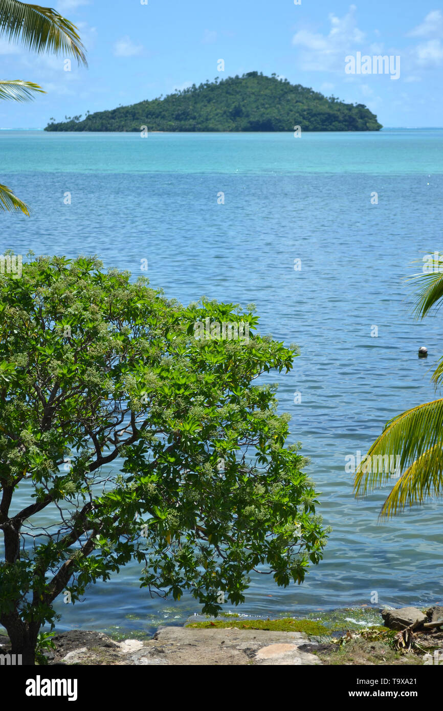 View of Luaniva motu, Mata-Utu, Wallis Island, Wallis & Futuna, South Pacific - Stock Image