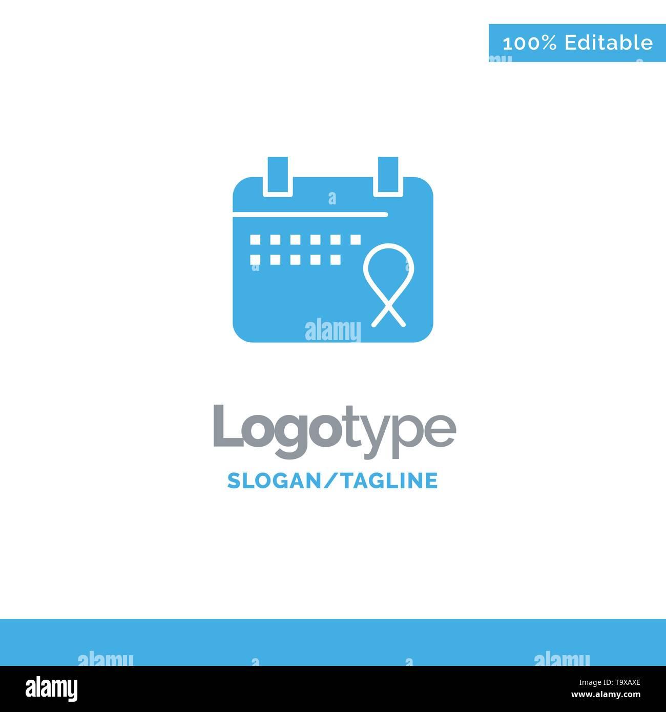 Calendar, Love, Operation, Date Blue Business Logo Template - Stock Image