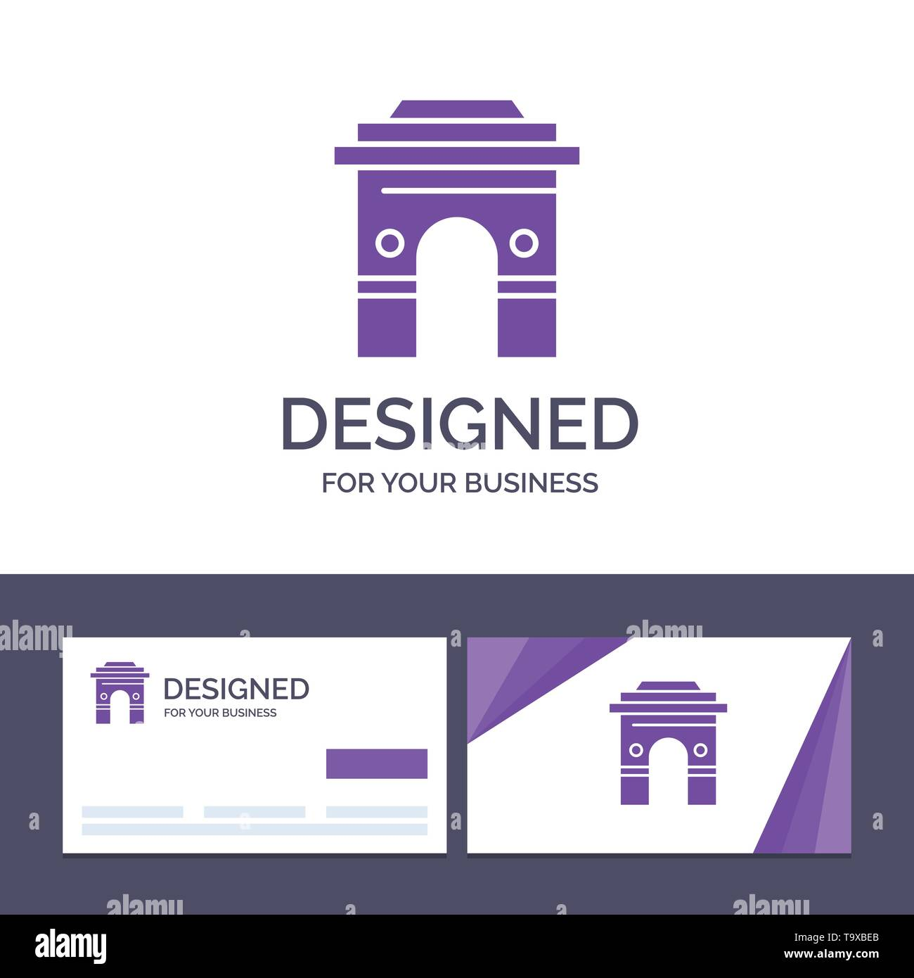 Creative Business Card and Logo template Culture, Global, Hinduism, India, Indian, Srilanka, Temple Vector Illustration - Stock Image