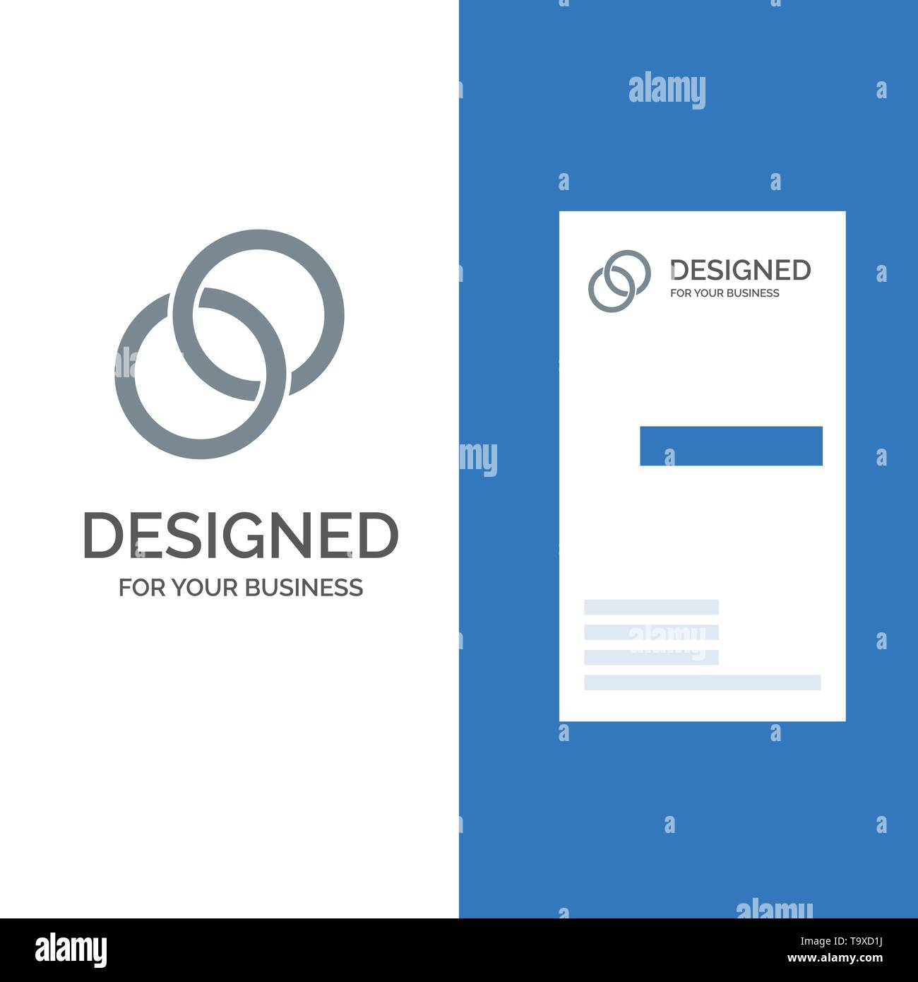Ring Wedding Couple Engagement Grey Logo Design And Business Card