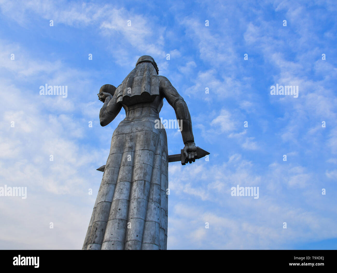 Tbilisi, Georgia - Sep 22, 2018. Kartlis Deda (Mother of Georgian) Monument in Tbilisi, Georgia. The statue was erected on the top of Sololaki hill in Stock Photo