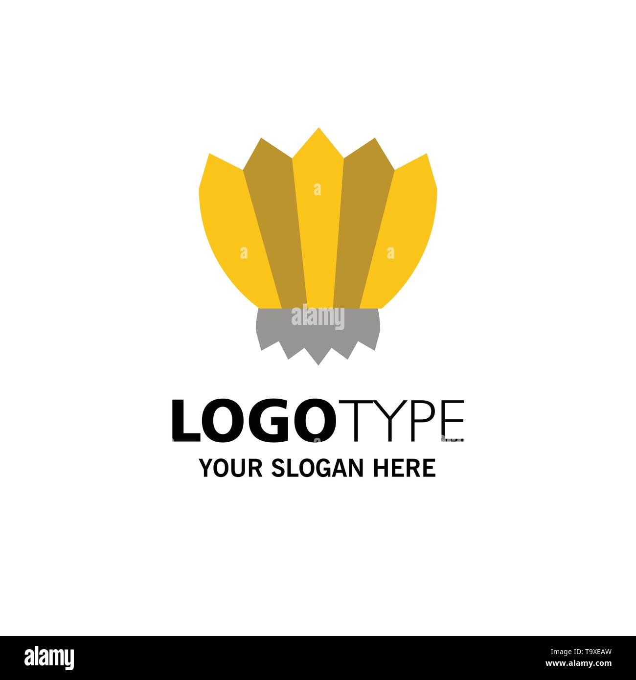 Diving, Fins, Flippers, Ocean, Outdoor Business Logo Template. Flat Color - Stock Vector