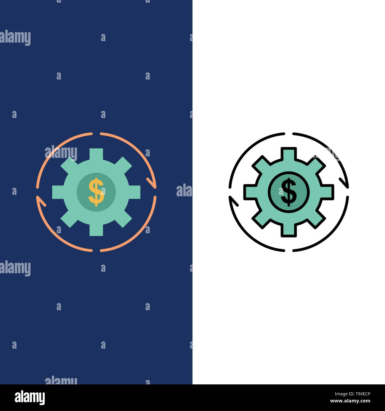 Revenue, Capital, Earnings, Make, Making, Money, Profit Icons  Flat