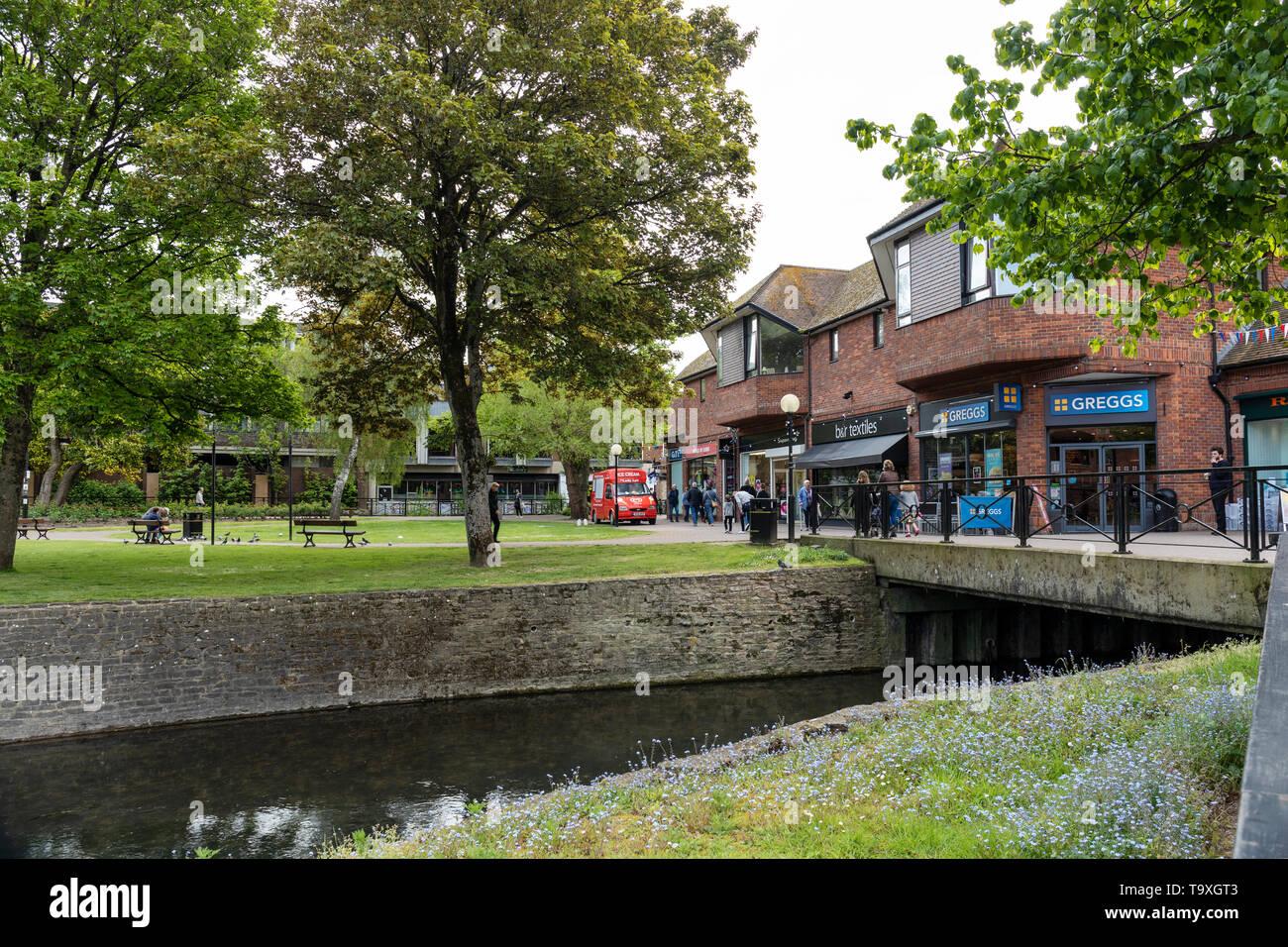 The Maltings shopping precinct, Salisbury, Wiltshire, UK - Stock Image