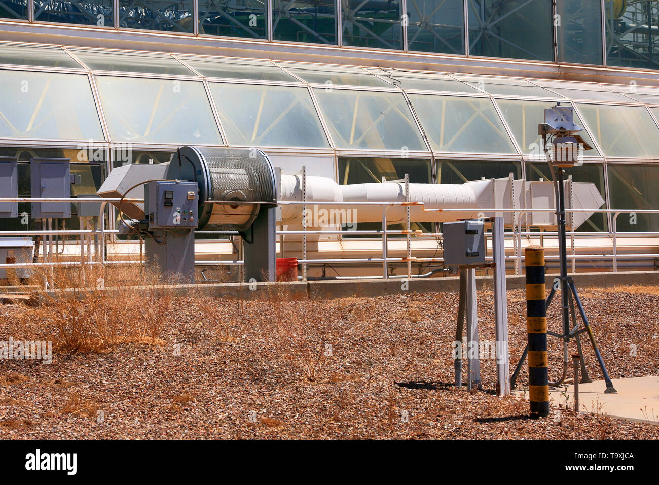 Temperature control system at Bisosphere 2, the American Earth system science research facility located in Oracle, AZ - Stock Image