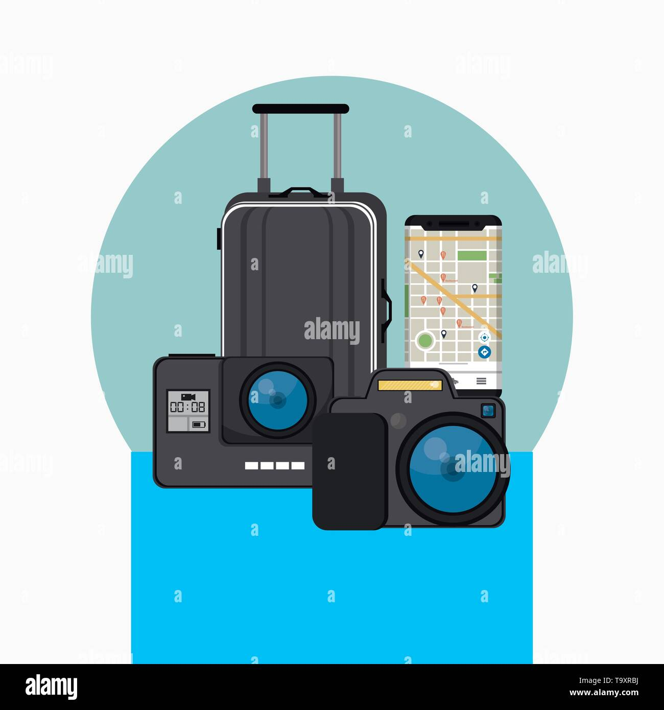 Travel and vacations elements - Stock Vector