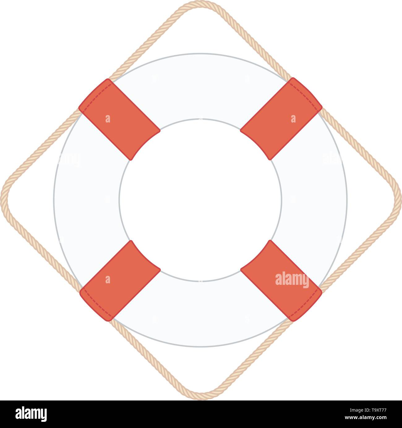 vector flat outline lifebuoy, life buoy, lifeguard, sea - Stock Vector
