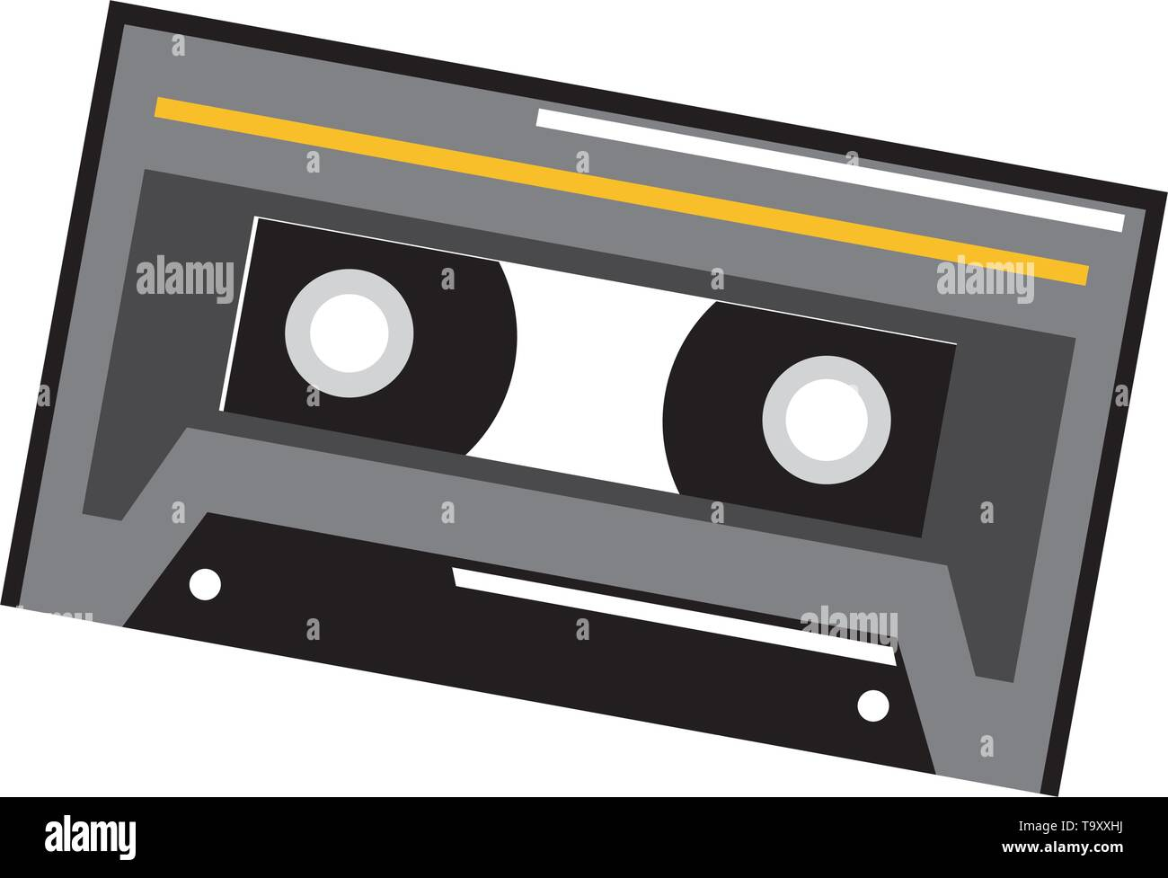 musical retro cassette - Stock Image