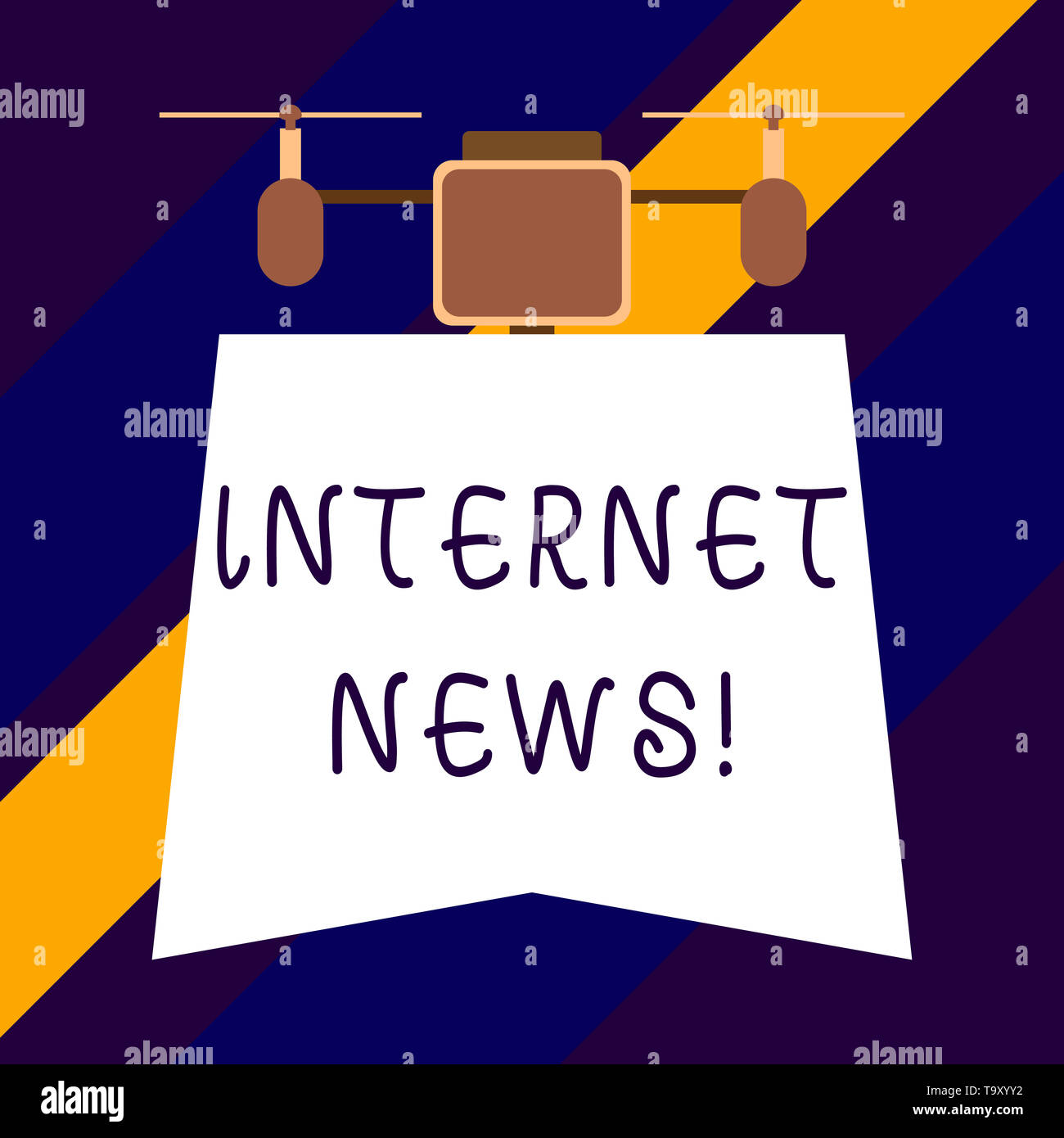 Text sign showing Internet News. Business photo showcasing the information about current events published online - Stock Image