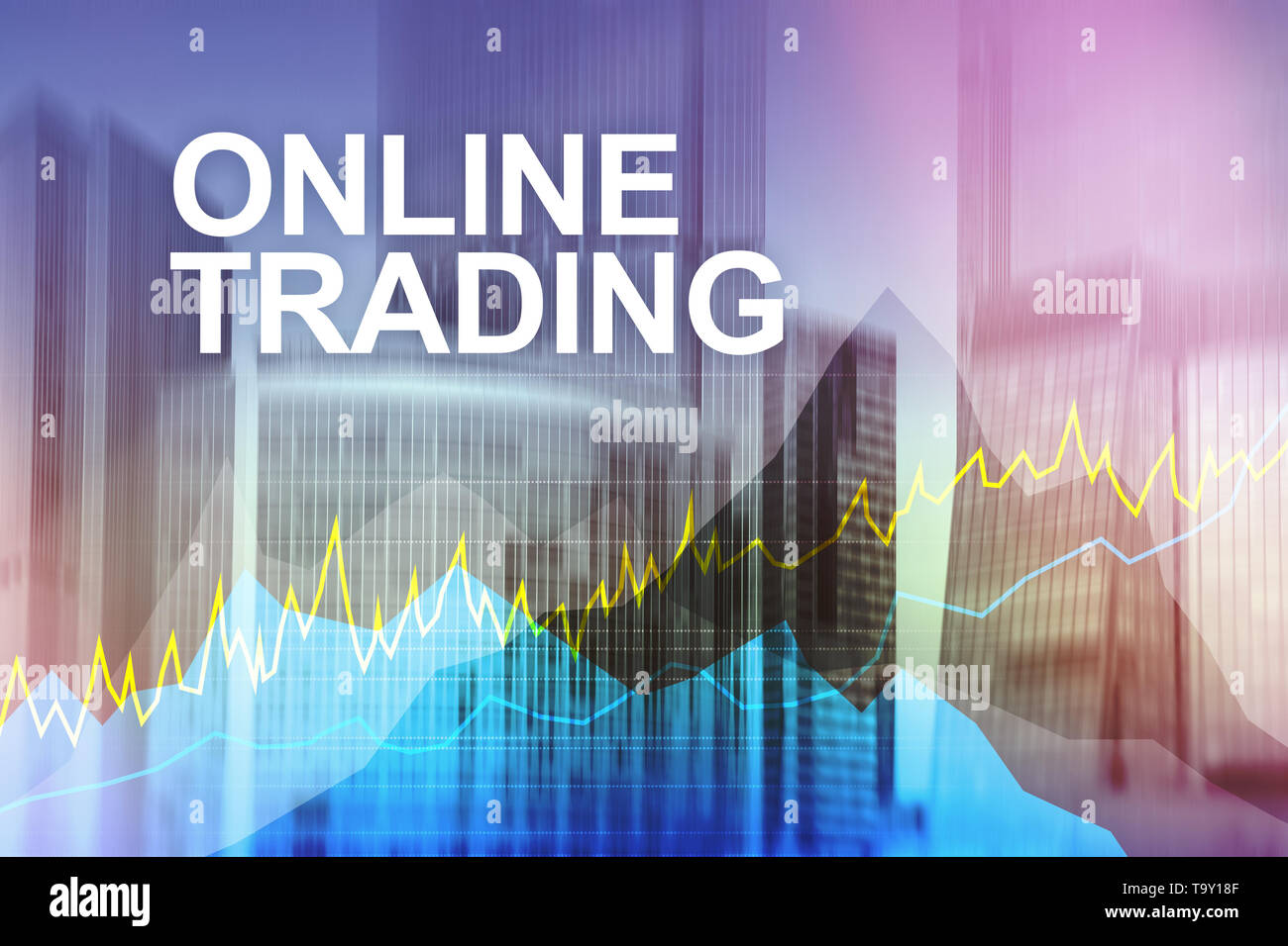 Online trading, Forex, Investment and financial market concept. - Stock Image