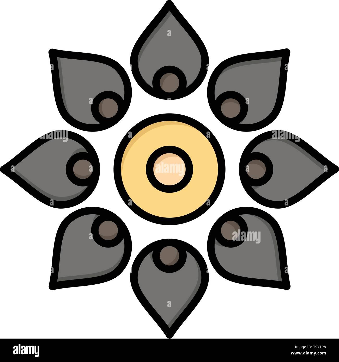 Celebrate, Decorate, Decoration, Diwali, Hindu, Holi  Flat Color Icon. Vector icon banner Template - Stock Image