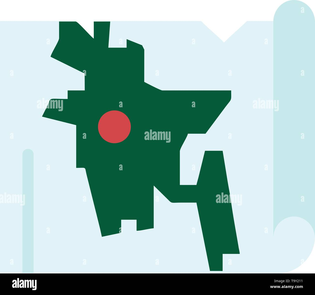 Bangladesh, Map, World, Bangla Flat Color Icon. Vector icon ...