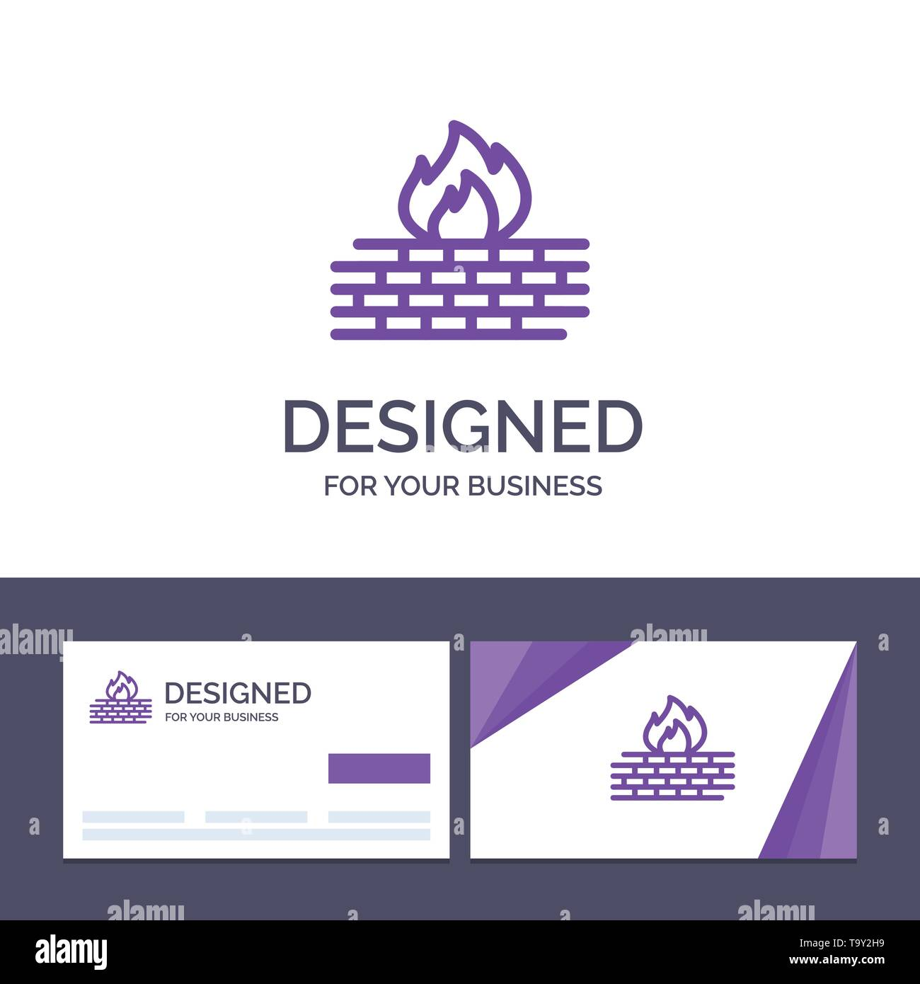 Creative Business Card and Logo template Antivirus, Computer, Firewall, Network, Security Vector Illustration - Stock Image