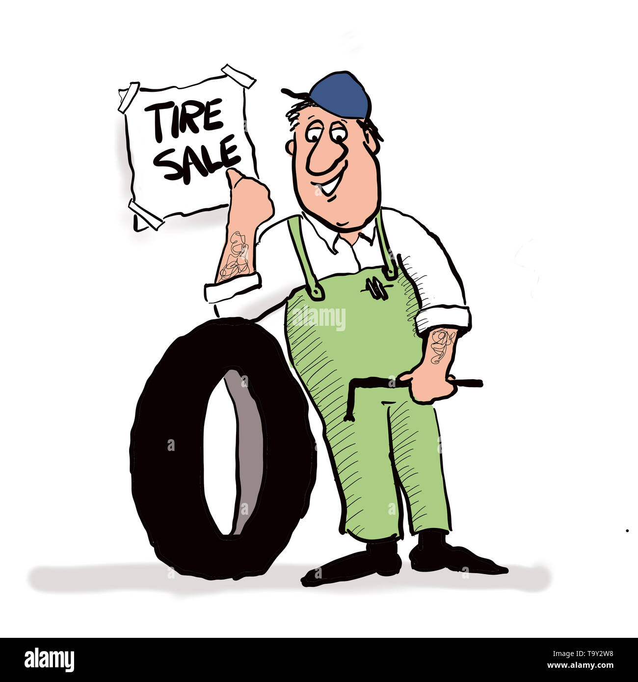 Tire Sale - Stock Image