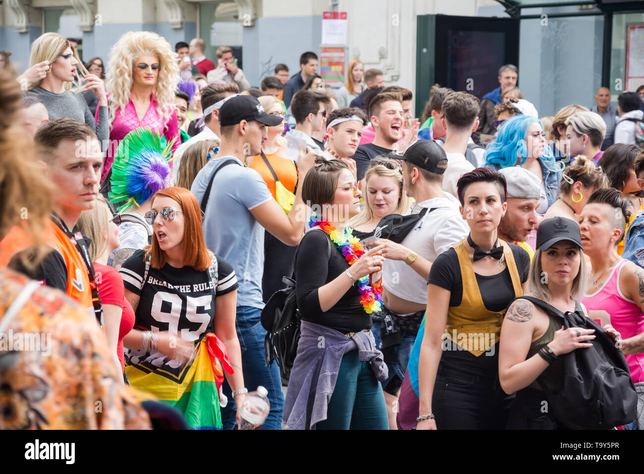 The Belgian Pride 2019 - gay Pride festival/LGBT event in Brussels - Stock Image