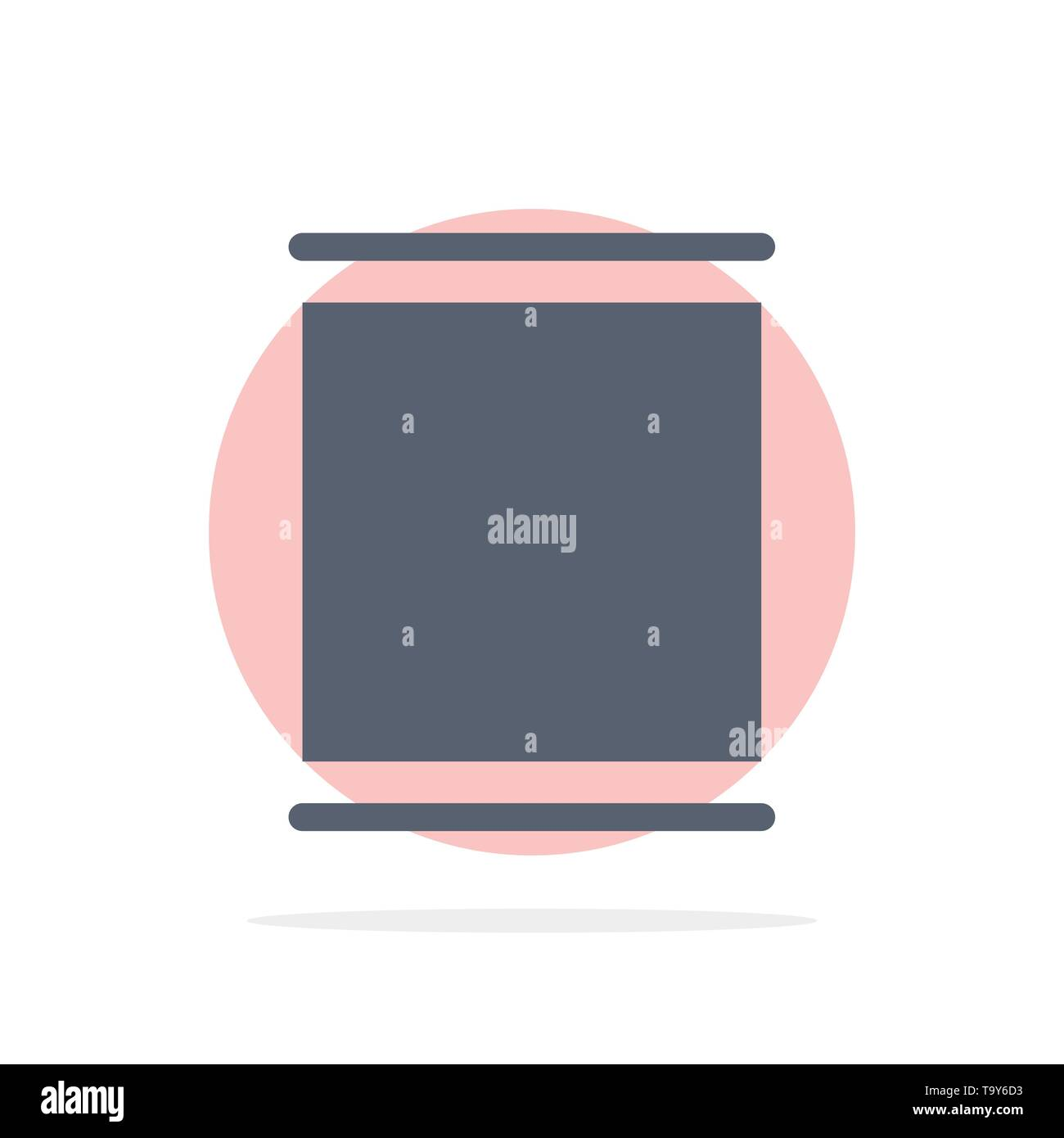 Gallery, Instagram, Sets, Timeline Abstract Circle Background Flat color Icon - Stock Image