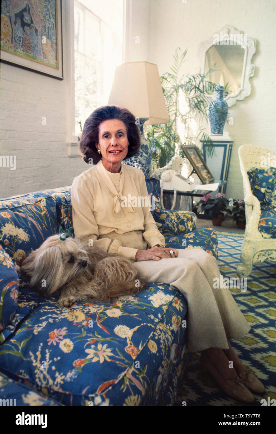 Anne Beau Cox Chambers - born December 1, 1919 - is an American media proprietor, who had a stake of interest in Cox Enterprises, a privately held media empire that includes newspapers, television, radio, cable television, and other businesses.  She is the daughter of James M. Cox, a newspaper publisher and 1920 Democratic Presidential nominee, and his second wife, Margaretta Parker Blair. She owns and controls her father's business interests, through Cox Enterprises. For 33 years she co-owned the family company with her sister, Barbara Cox Anthony, who died on May 28, 2007. - Stock Image