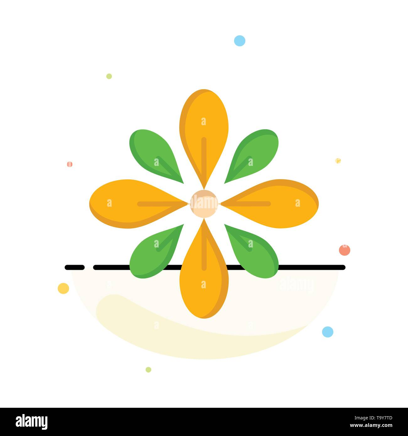 Celebrate, Decorate, Decoration, Diwali, Hindu, Holi Abstract Flat Color Icon Template - Stock Image