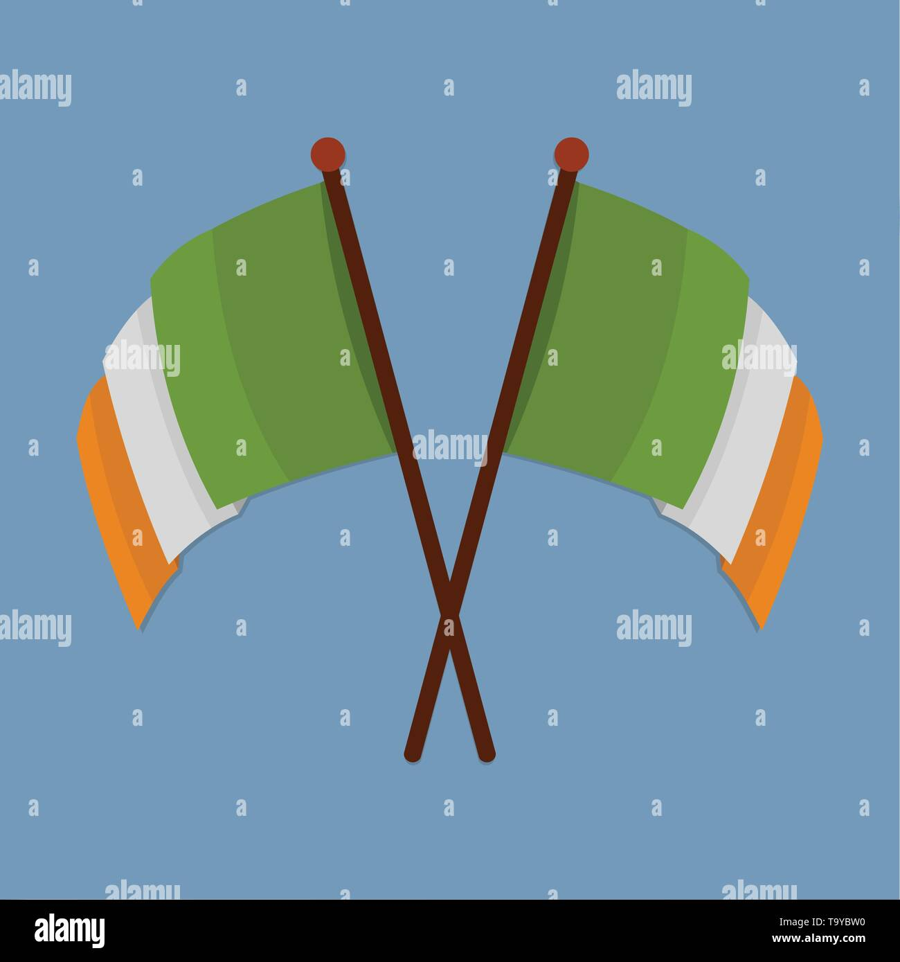 two ireland flags vector symbol illustration Stock Vector