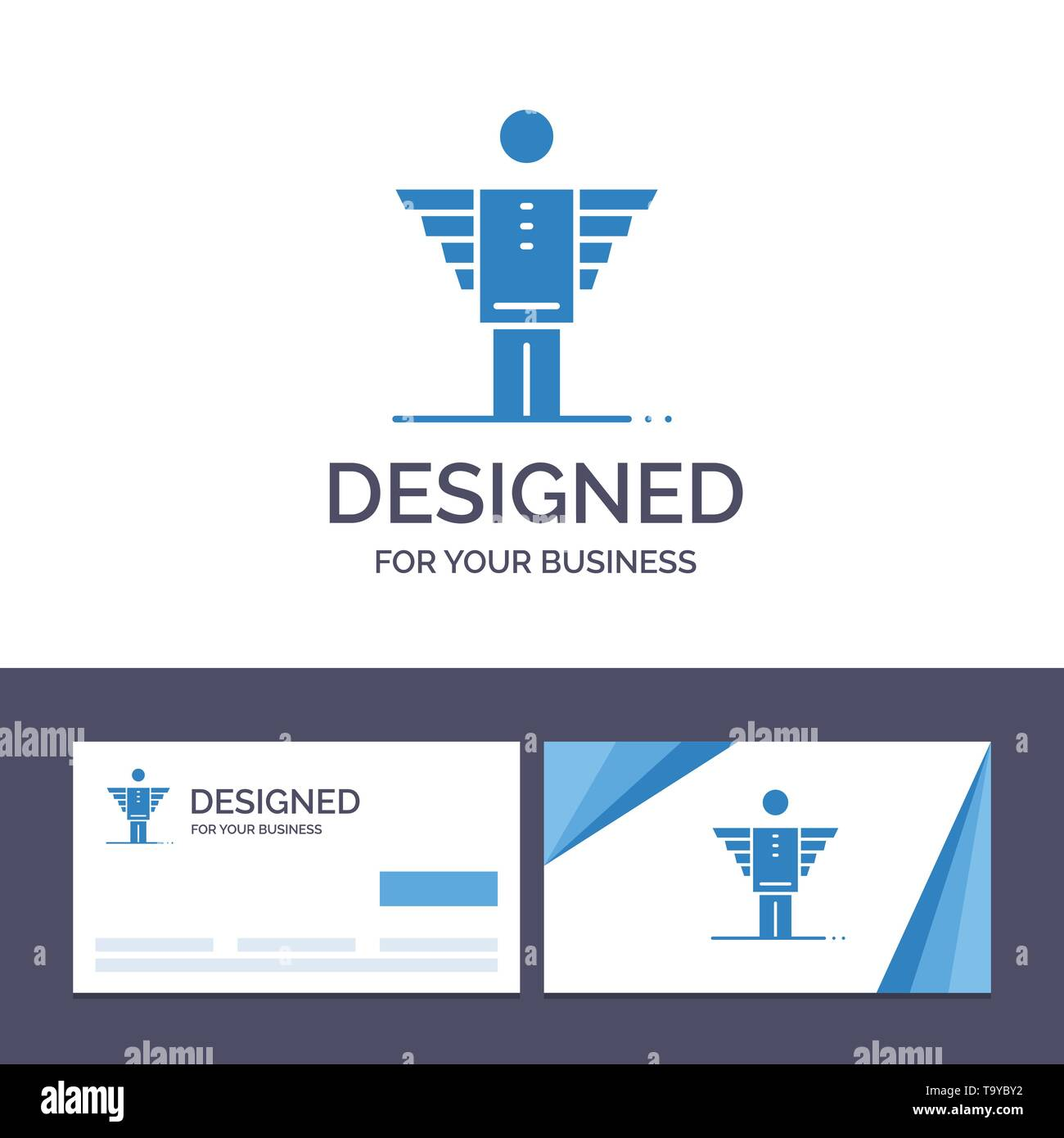 Creative Business Card And Logo Template Angel Business