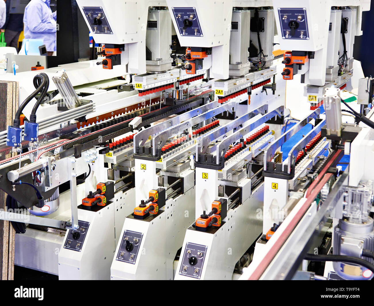 Dowel Boring Machine for wooden work industry - Stock Image