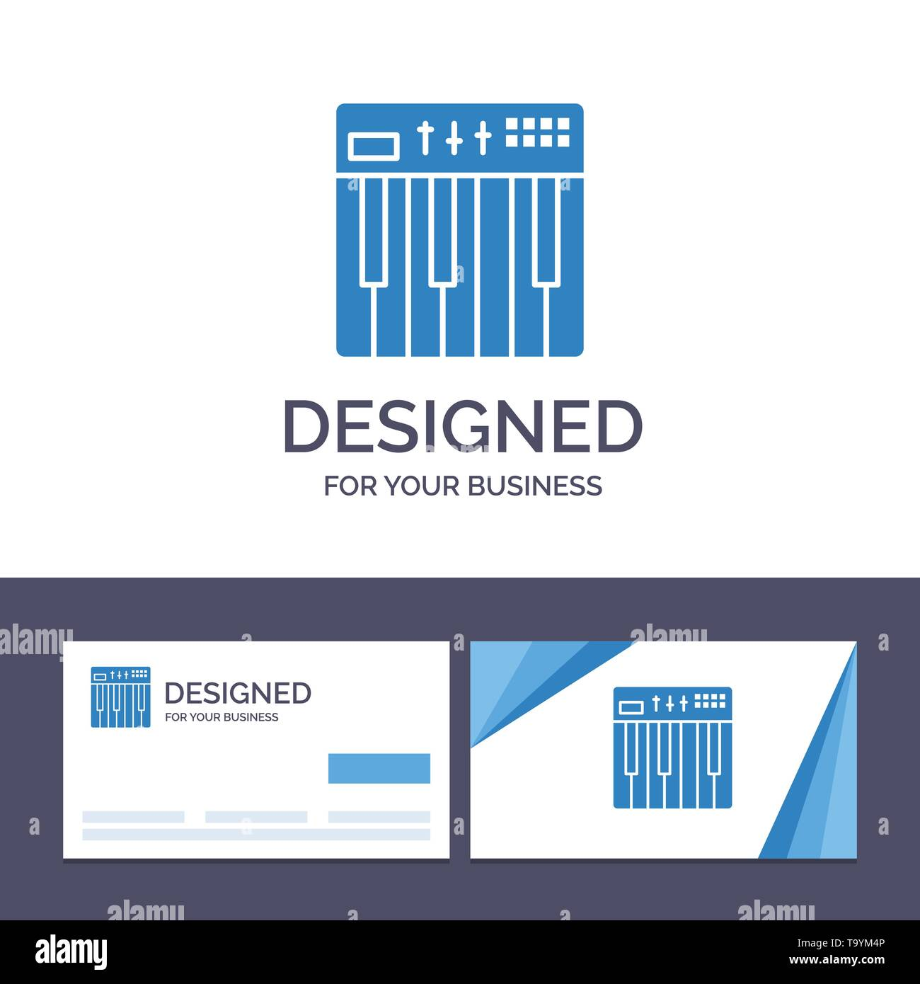 Creative Business Card and Logo template Controller, Hardware, Keyboard, Midi, Music Vector Illustration - Stock Image